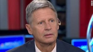 Gary Johnson Reaction to Aleppo uestion. (MSNBC via CNN)
